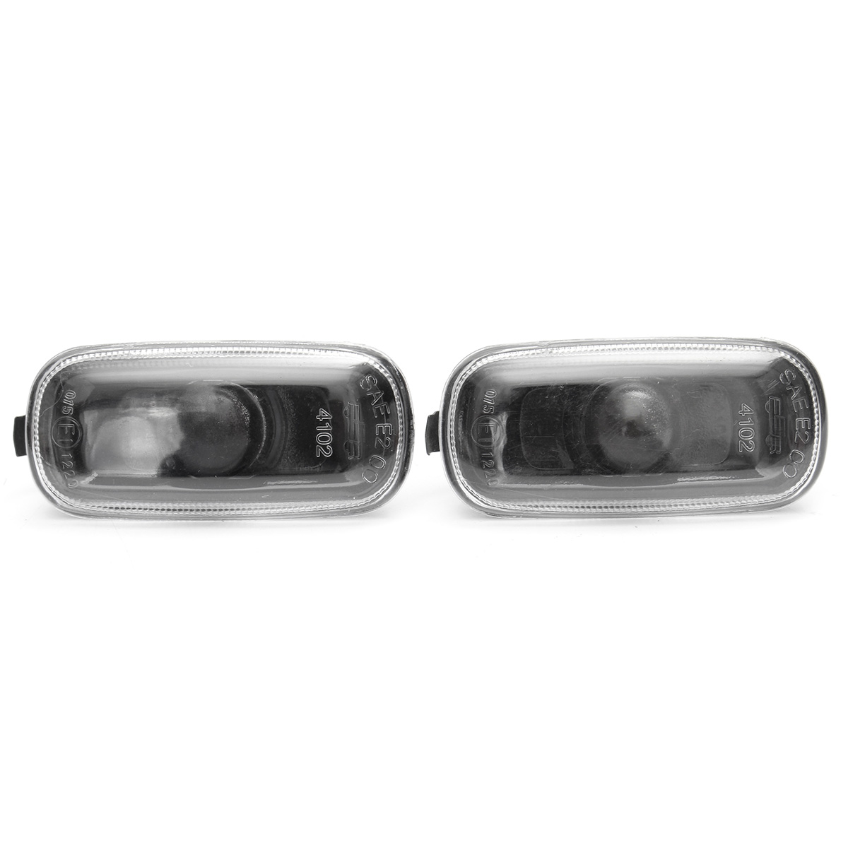 Pair Side Indicator Marker Lights Smoke For AUDI A4 98-05 A6 98-05 8E949127