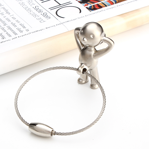Funny Gifts Toilet Urinal Creative Boy Pendant Key Chain Ring Holder Present