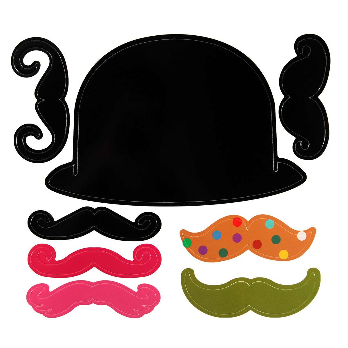 40PCS Photo Mustache Stick Booth Wedding Prop Welcome Mask Props Wedding Party Decoration