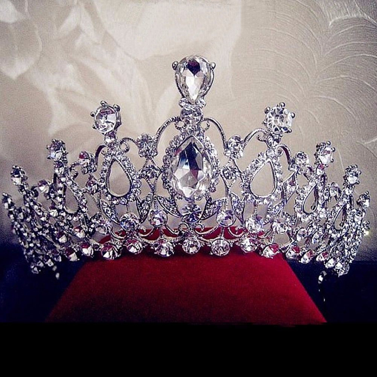 Bride Rhinestone Crystal Tiara Crown Princess Queen Wedding Bridal Party Prom Headpiece
