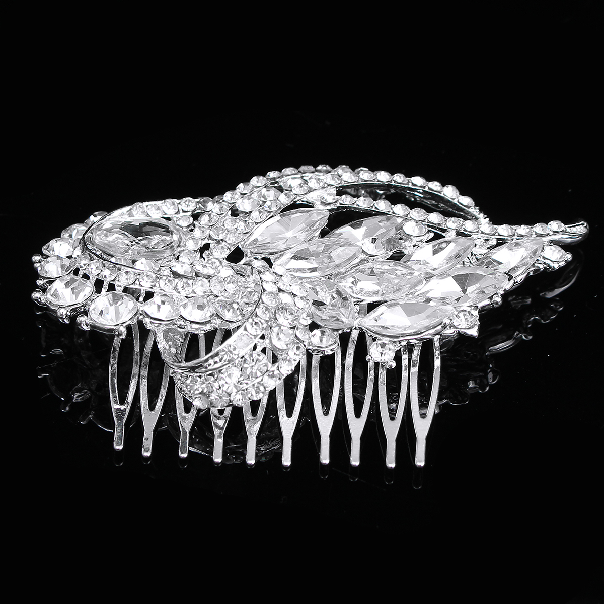 Bridal Artificial Crystal Rhinestone Hair Comb Clip Bride Wedding Party Prom Headpiece