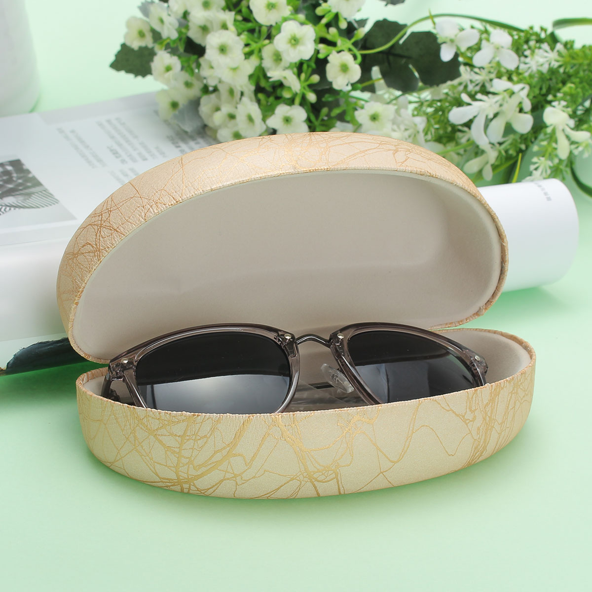 PU Leather Hard Sunglass Glasses Box Reading Glasses Storage Spectacle Glasses Case