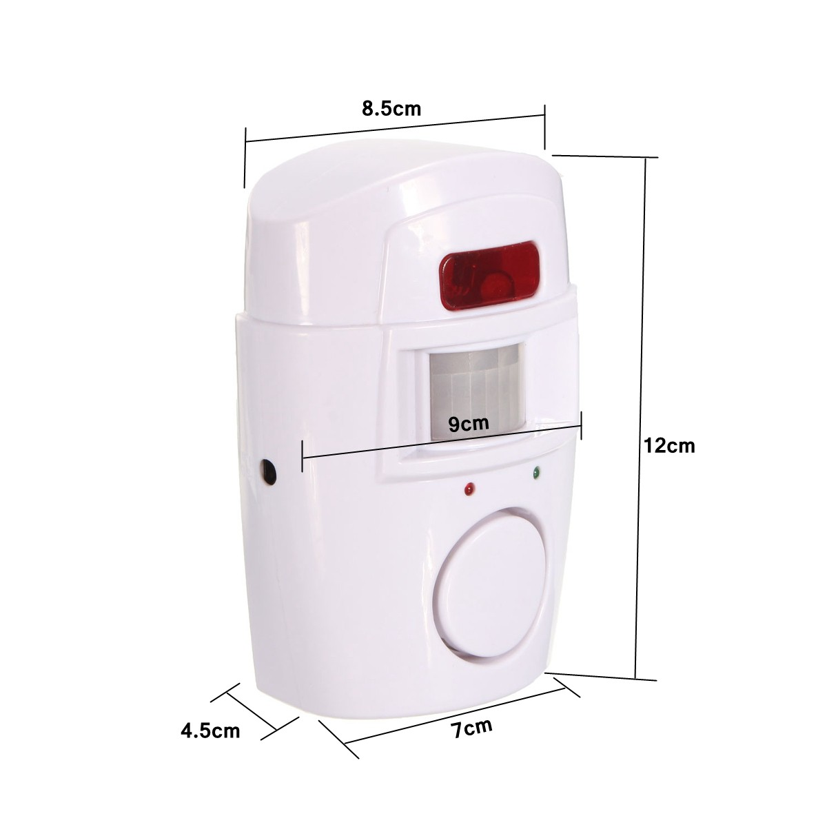 2 In 1 Motion Wireless Infrared Security Alarm Chime Alarm Home Detector with Remote Control+Holder