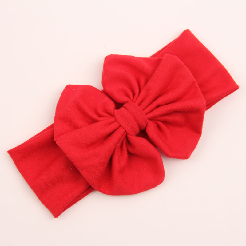 Girls Kids Baby Toddler Bowknot Bow Headbrand Soft Elastic Sweet Hair Wear Wrap Turban Accessories
