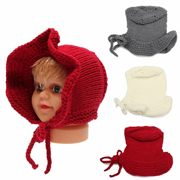 Toddler Kids Girl Boy Baby Infant Winter Warm Bonnet Crochet Knit Hat Beanie Cap