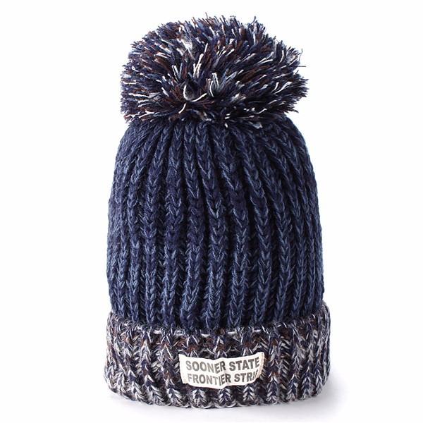 Women Ladies Woolen Knitting Ball Beanie Hat Knitted Warm Hat Ski Wool Cap