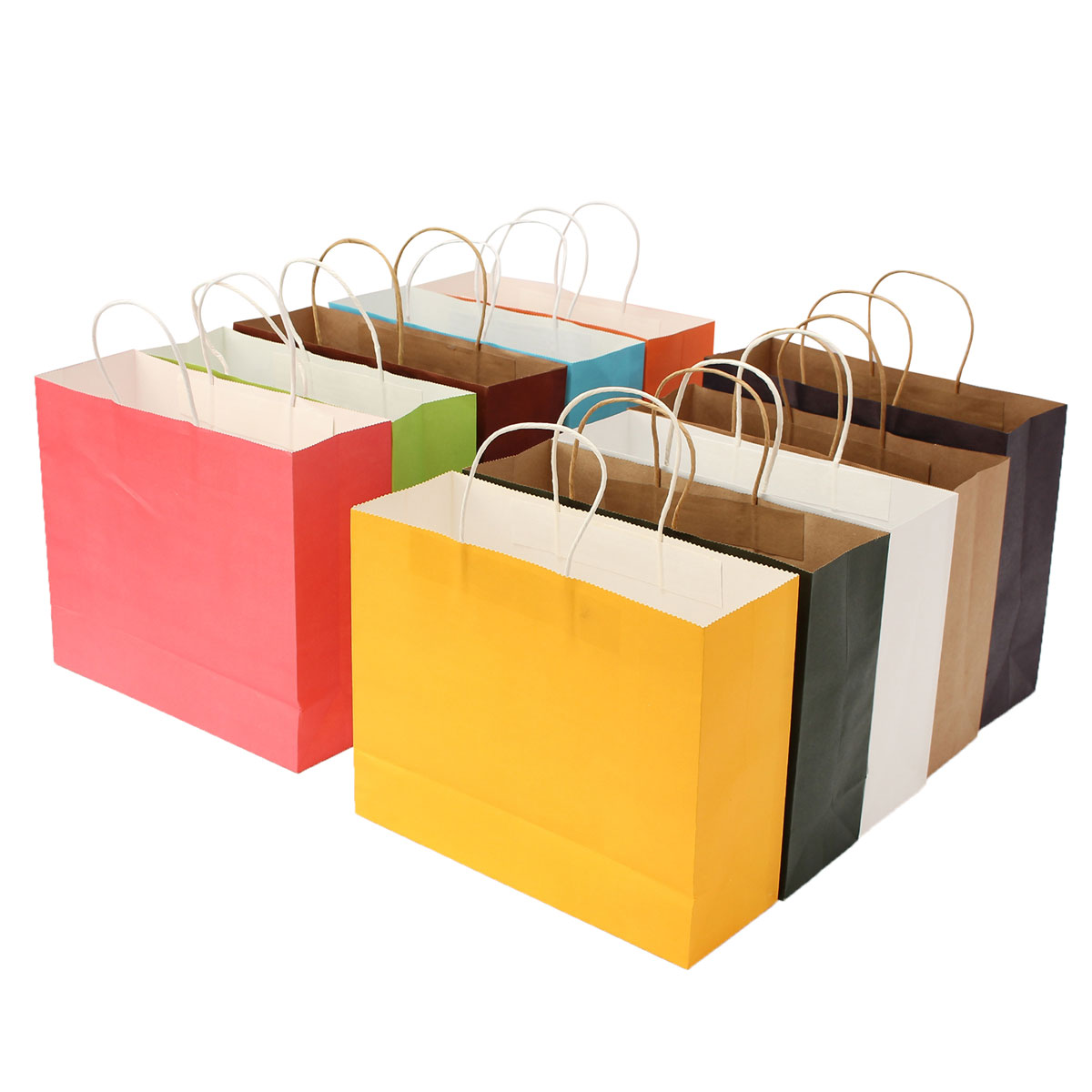 42*31*13cm Paper Gift Packaging Bag Shopping Multicolor Wedding Party Supply