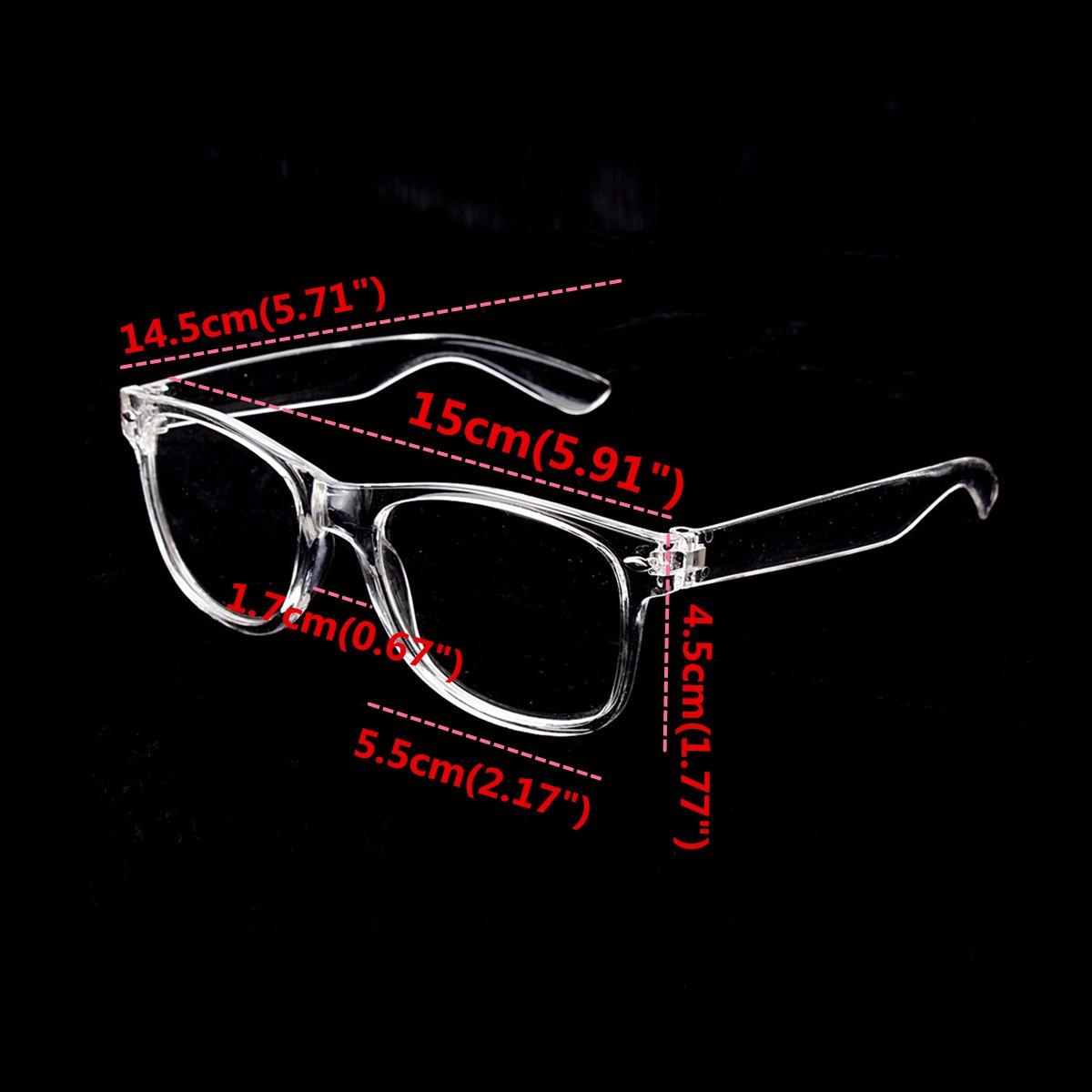 Unisex Plastic Transparent Frame Glasses Retro Plain Lens Eyeglasseess