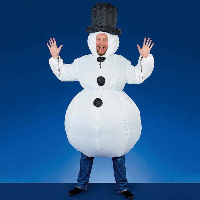Halloween Christmas Party Inflatable Snowman Clothing Fancy Constume Toys For Kids Children Gift