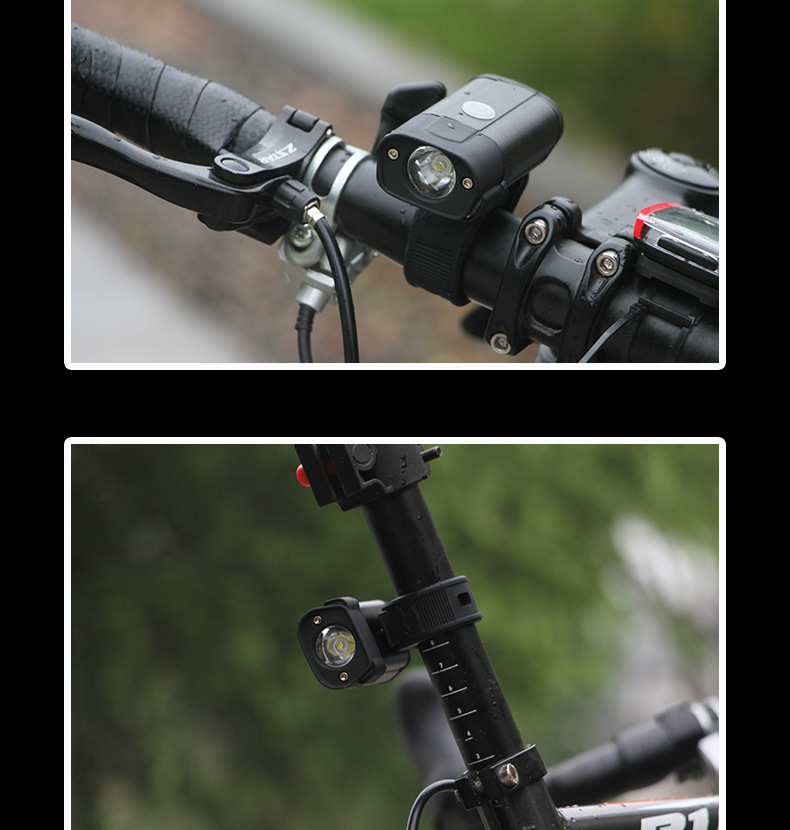 XANES 600 Lumens Bike Front Headlight 5 Lighting Modes USB Rechargeable