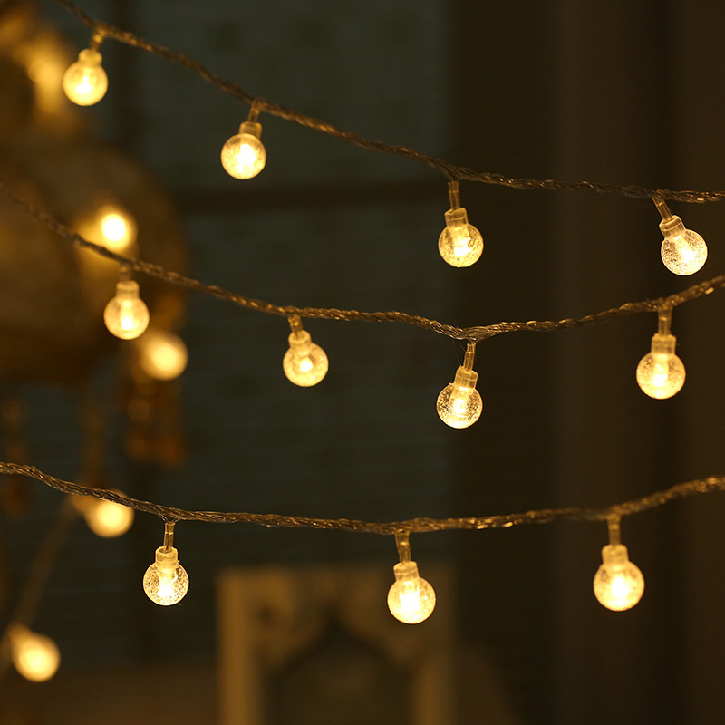 Battery Powered 20/30 LED String Holiday Light Bulb Garland Lamp Christmas Party Garden Decor