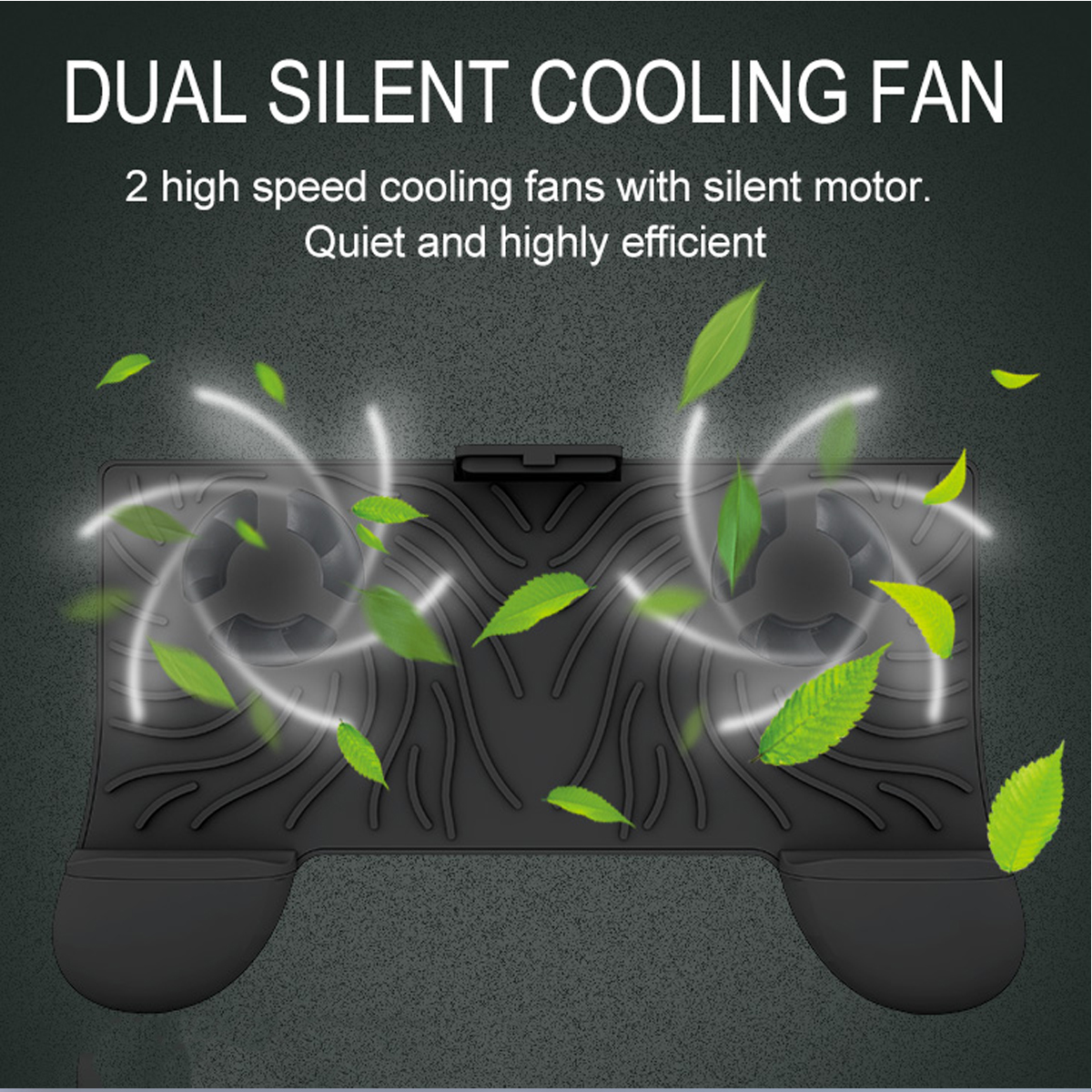 RKGAME 7th Qi Wireless Charger Power Bank Joystick Gamepad with Cooling Fan for Smartphones
