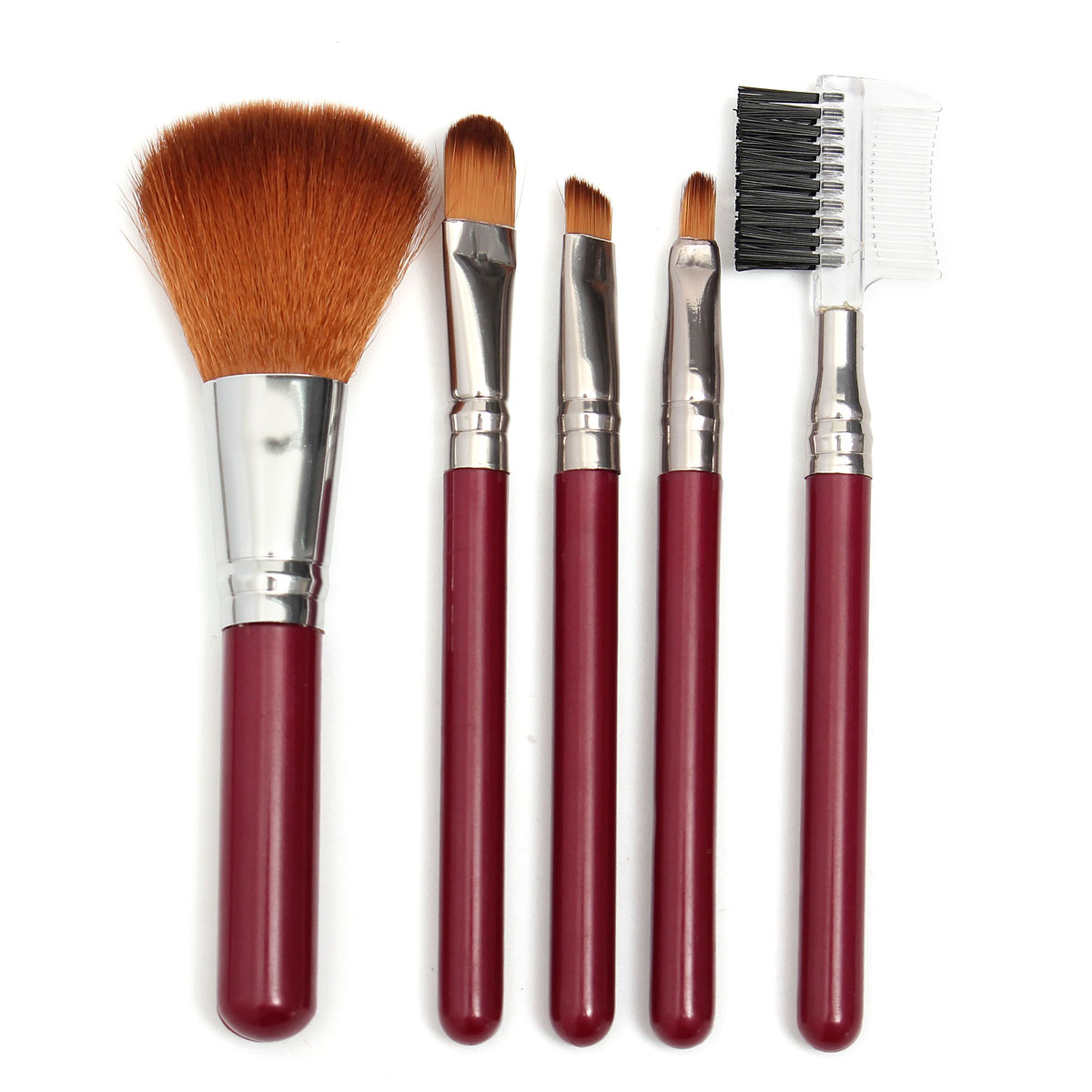 5pcs Makeup Brushes Kit Set Eyeshadow Blush Eyebrow Lip Cosmetic Tools Beauty