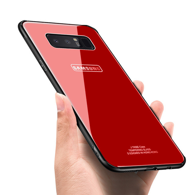 Bakeey Tempered Glass Mirror Back TPU Frame Protective Case for Samsung Galaxy Note 8/S8/S8Plus