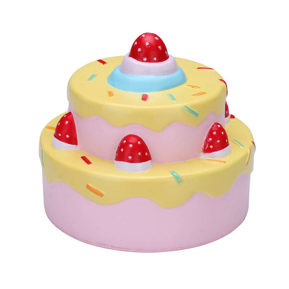 Vlampo Squishy Layer Birthday Cake Licensed Slow Rising Original Packaging Box Gift Collection Decor Toy