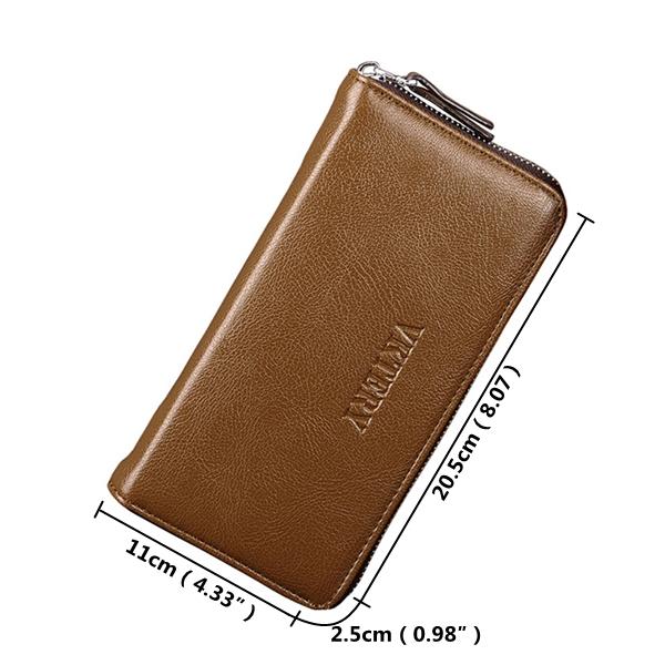 Men Business 12 Card Slots Phone Wallet Clutch Bag