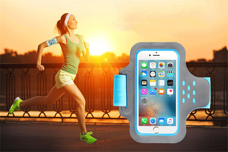 HAISSKY Running Reflective Stripe Waterproof Wrist Pouch Armband Arm Bag for Mobile Phone Under 5.5
