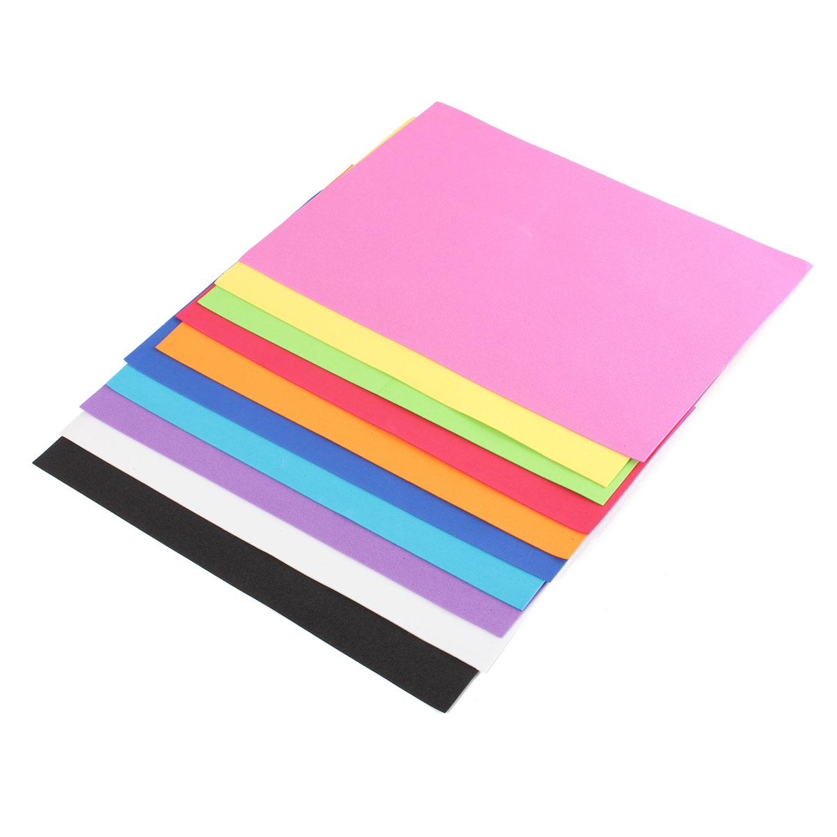 10Pcs Thick Multicolor Sponge Foam A4 Paper Fold Scrapbooking Paper Baby Kid Craft DIY Handicraft Supplies