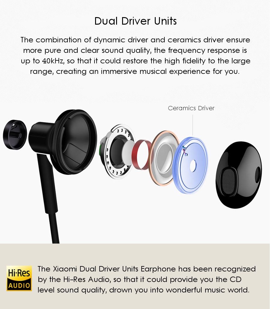 original xiaomi dynamic driver ceramics driver shallow in ear wired rh banggood com