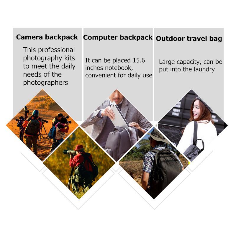 Shockproof Waterproof DSLR SLR Camera Backpack Shoulder Bag Case for Canon Nikon