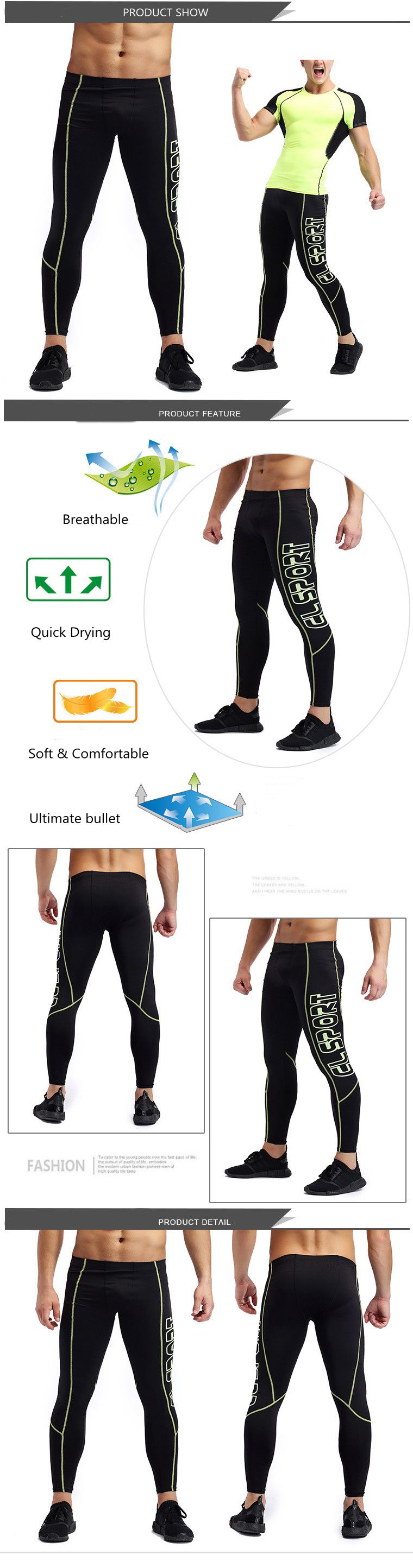 High Comfort Sports Gym Jogging Tight Pants Bodybuilding Breathable Skinny Legging Trousers