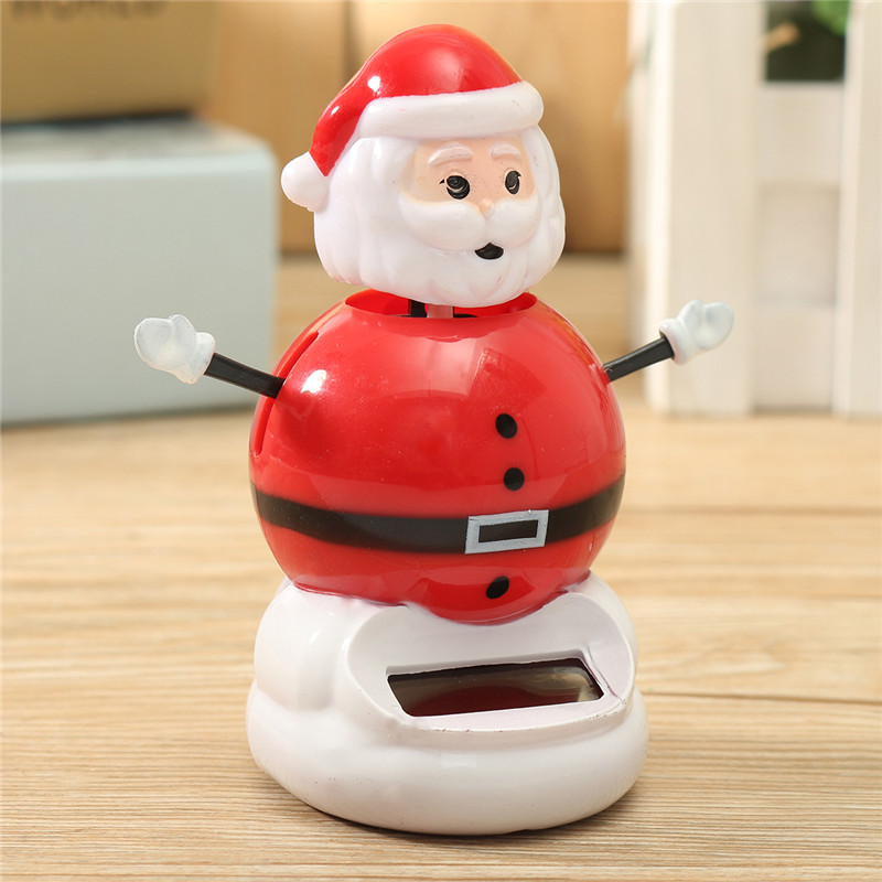 Christmas Car Home Decoration Solar Powered Dancing Swing Dolls Toys For Kids Children Gift