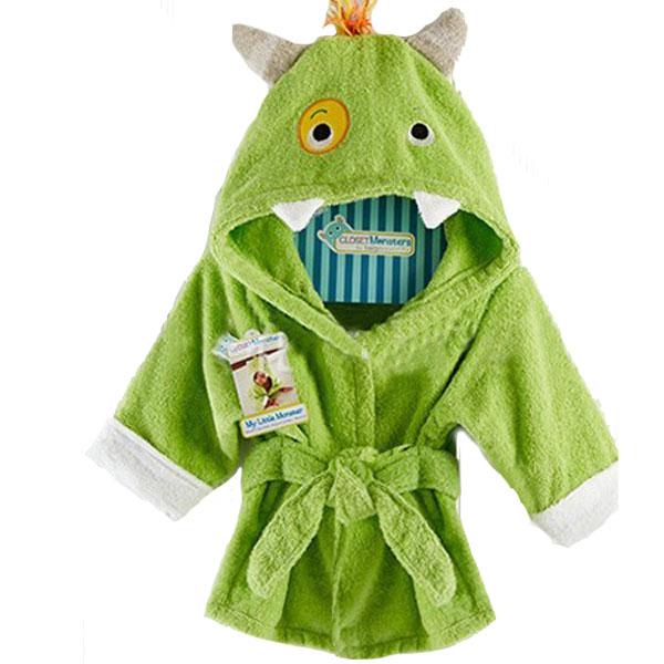 Baby Nighty Pajamas Kids Toddler Animal Cartoon Bathrobe Towel