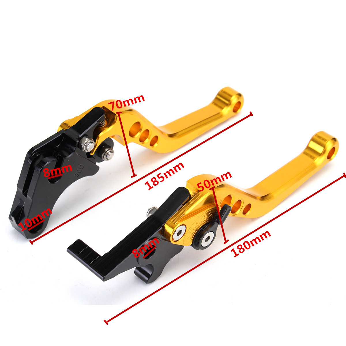 Short Clutch Brake Levers CNC Motorcycle Modified For Honda Grom MSX125