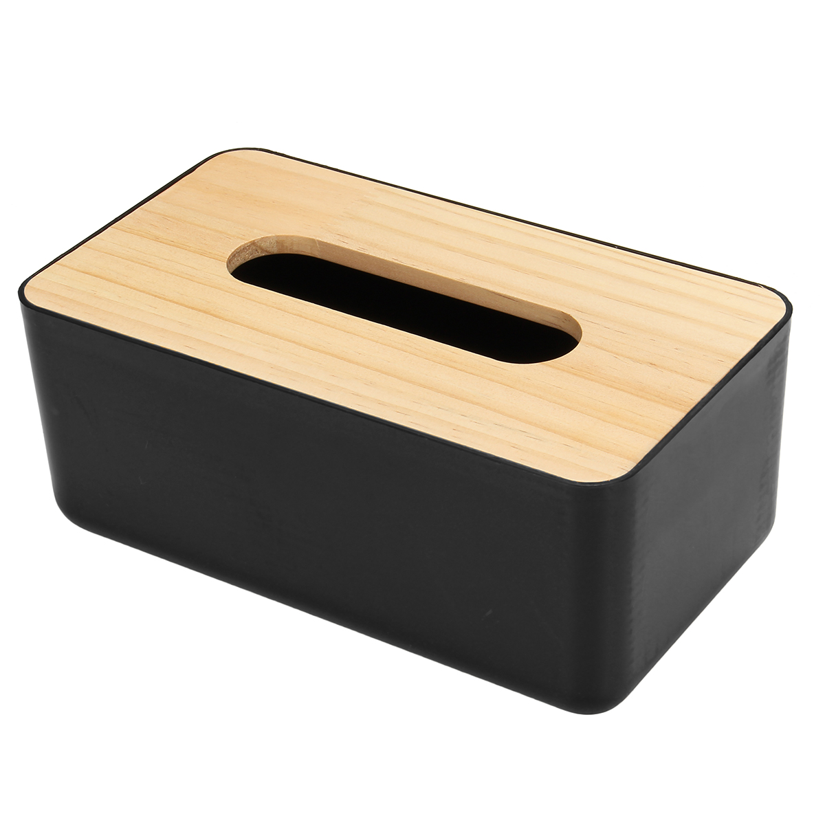 Wooden Cover Tissue Box Paper Napkin Storage Holder Case Organizer Container