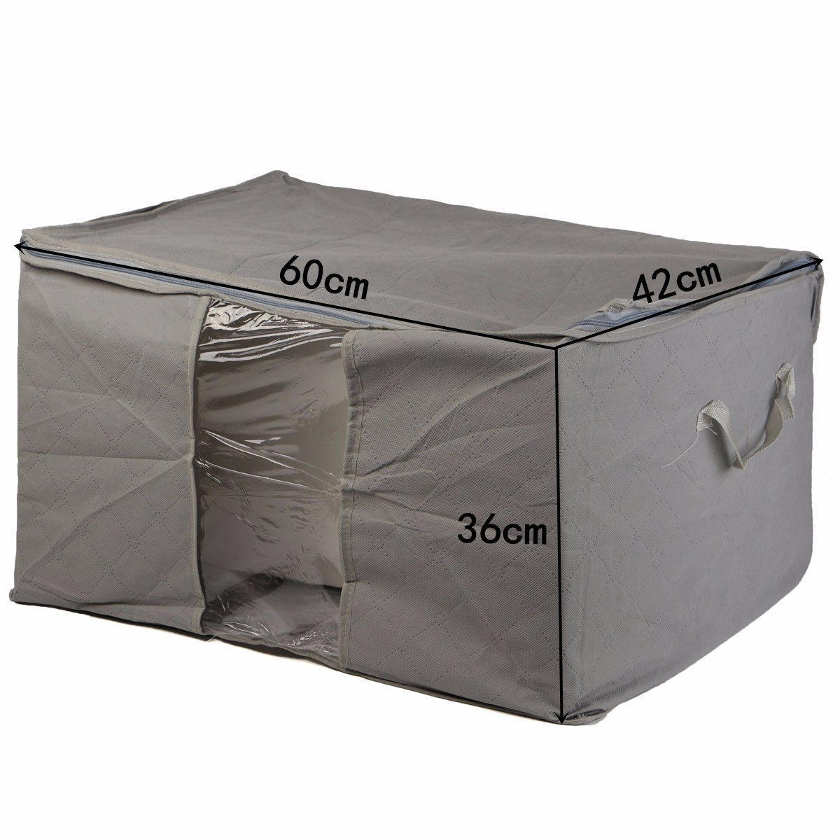 Foldable Large Bedding Storage Bag Organiser for Pillow Clothes Quilt Bedding Duvet Blanket Under Bed Storage Organizer Box