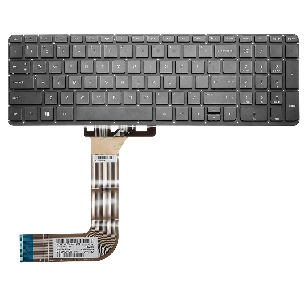 Laptop US Replace Keyboard For HP Pavilion Beats 15-p00