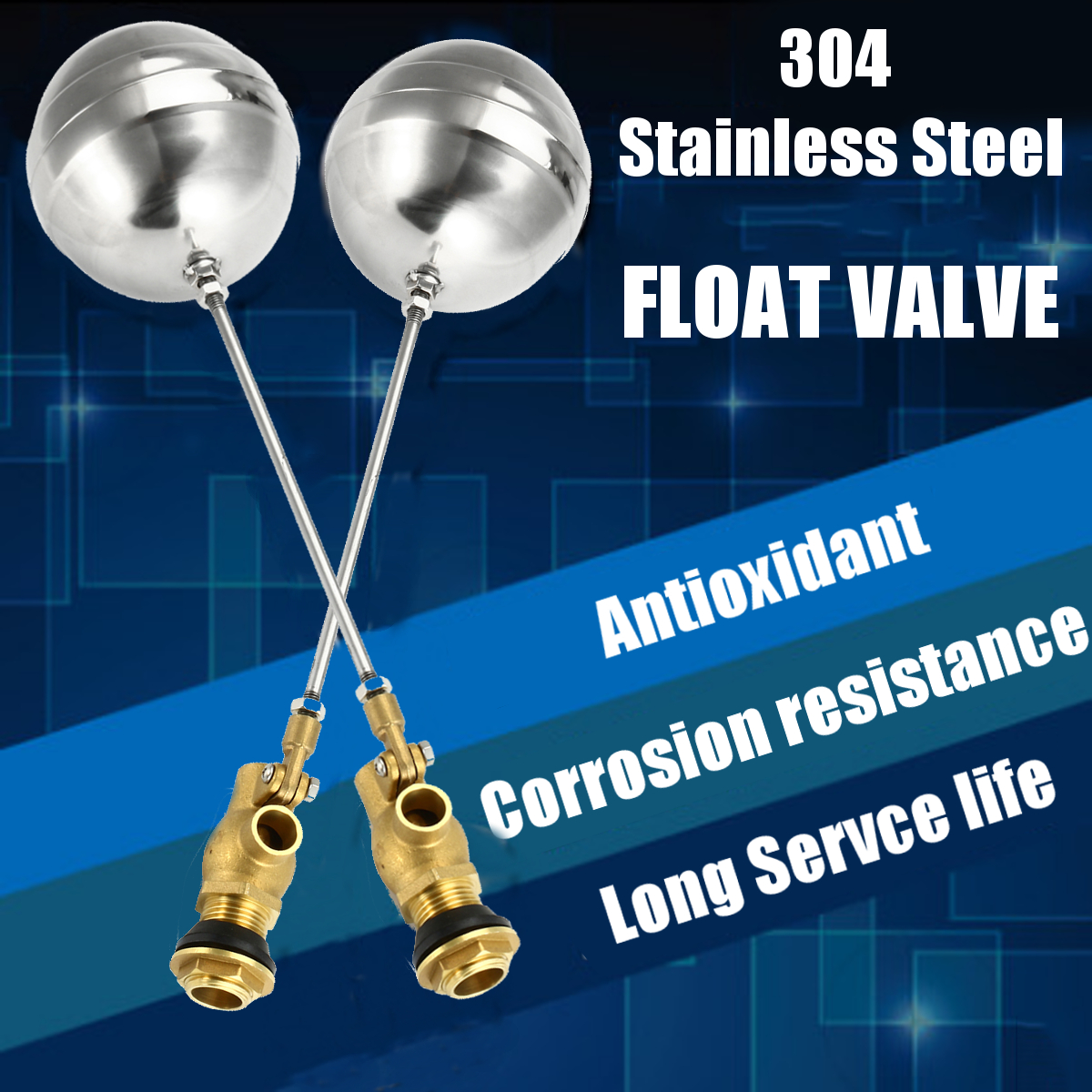 1 Inch Float Valve Brass Valve Stainless Steel Water Trough Automatic Cattle Bowl Tank