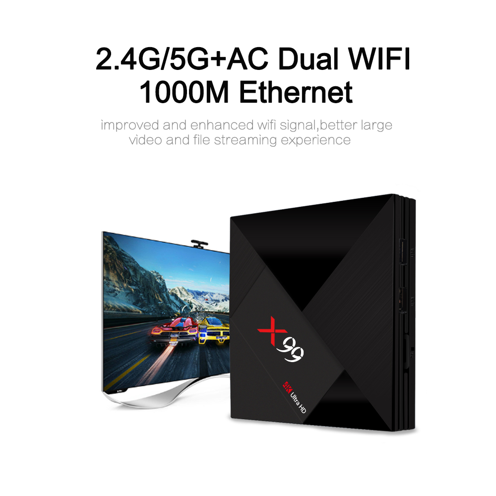 X99 RK3399 4GB RAM 64GB ROM Android 7.1 1000M LAN 5G WIFI bluetooth 4.1 4K TV Box