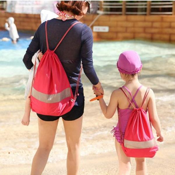 Honana HN-TB27 Waterproof Travel Drawstring Bag Tote Swimming Beach Parent Children Backpack