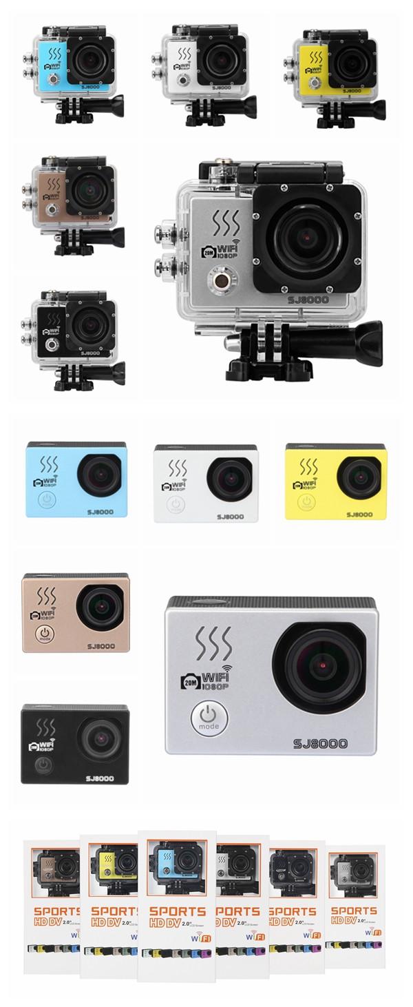 SJ8000 Sport Action Camera Moving WIFI 2K Full HD CMOS 170 Degree Waterproof 40m