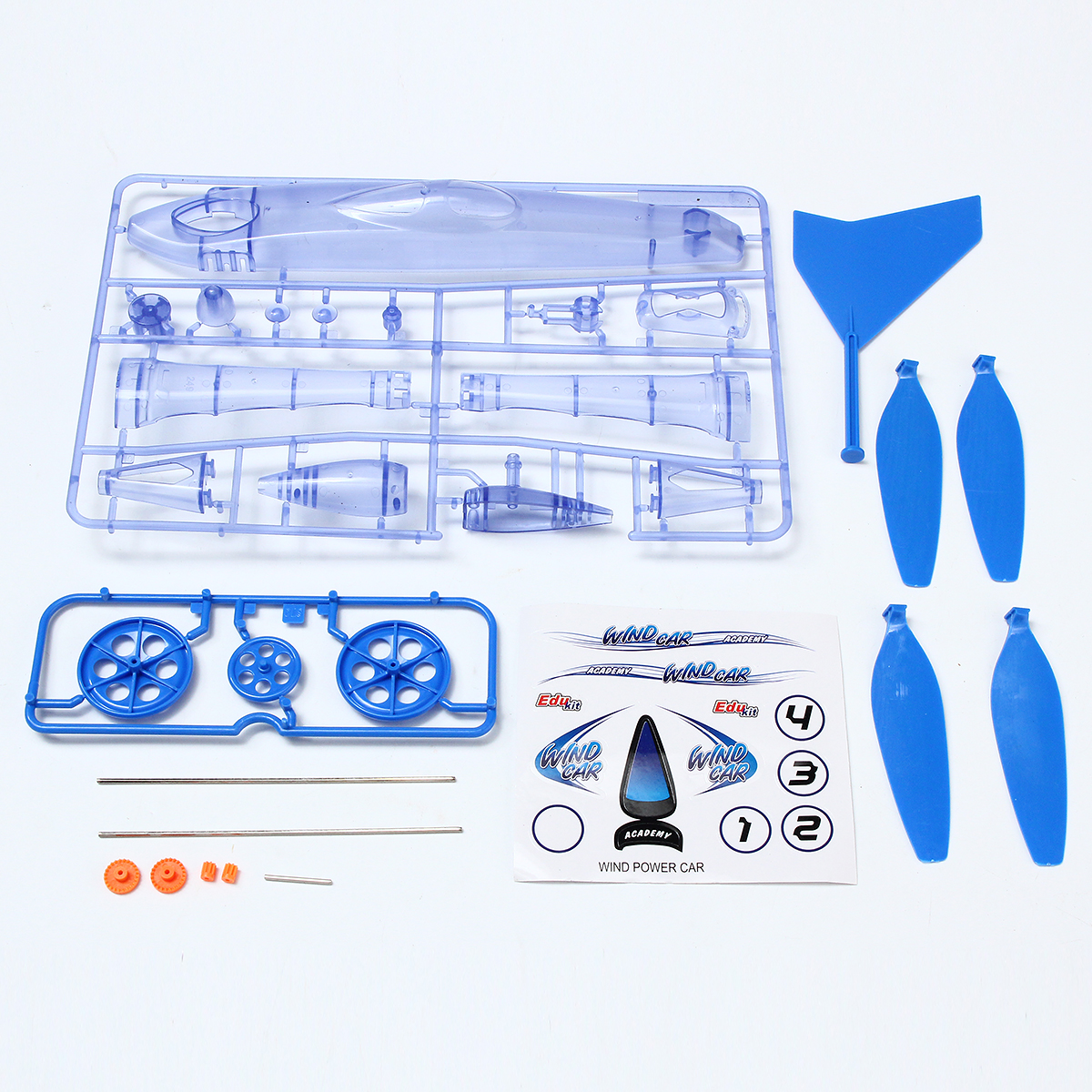 DIY Technology Invention Wind Power Car Windmill Assembly Model Kit