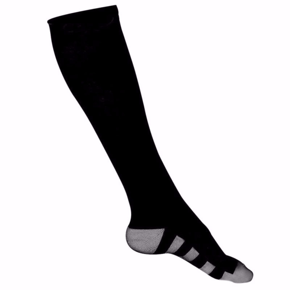 1 Pair Nylon Stretch Compression High Socks Leg Support Sport Calf Swelling Relief Anti Fatigue