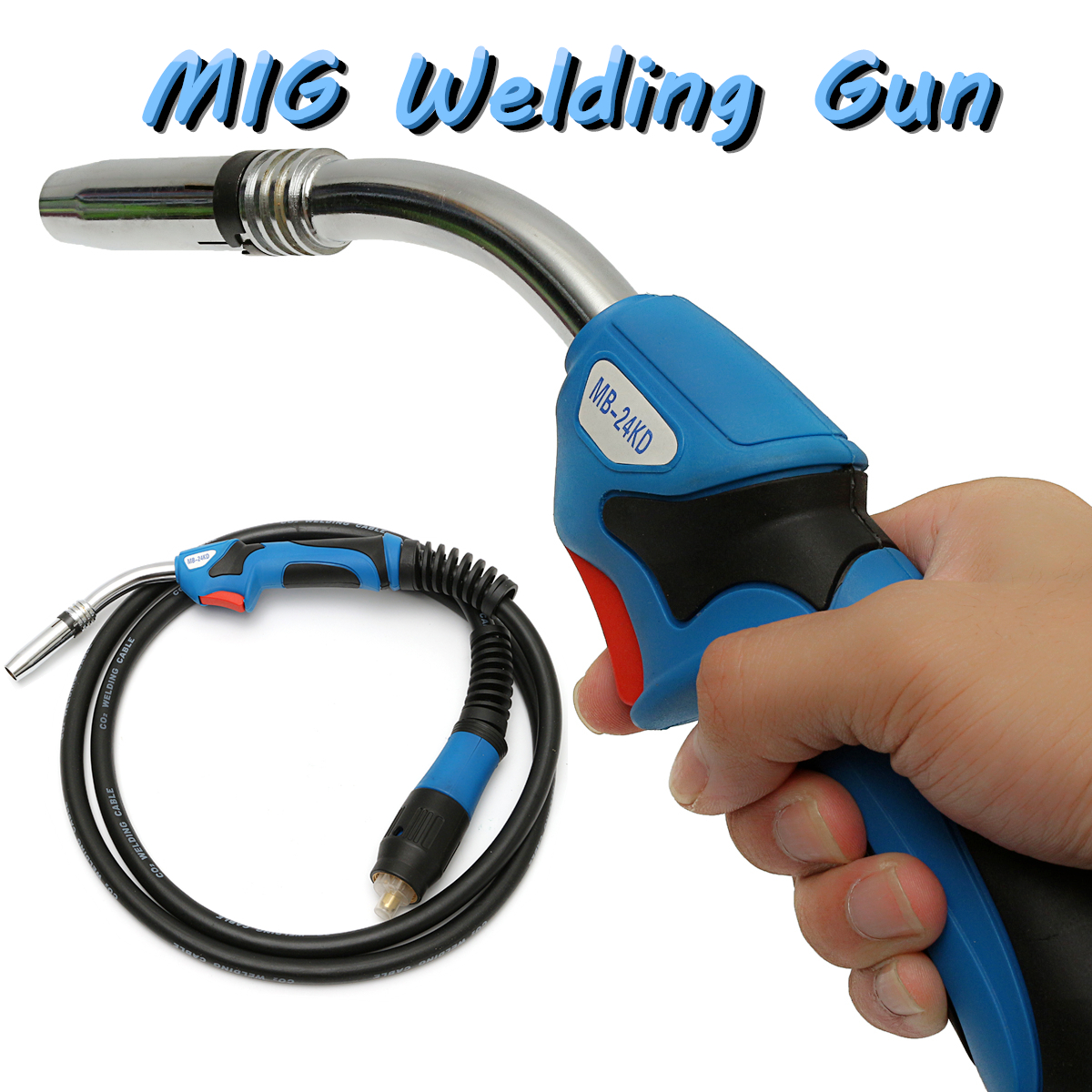 250A MB24 Welding Torch Gun 3M Air Cooled Euro Quick Connector for MIG MAG Welding Machine