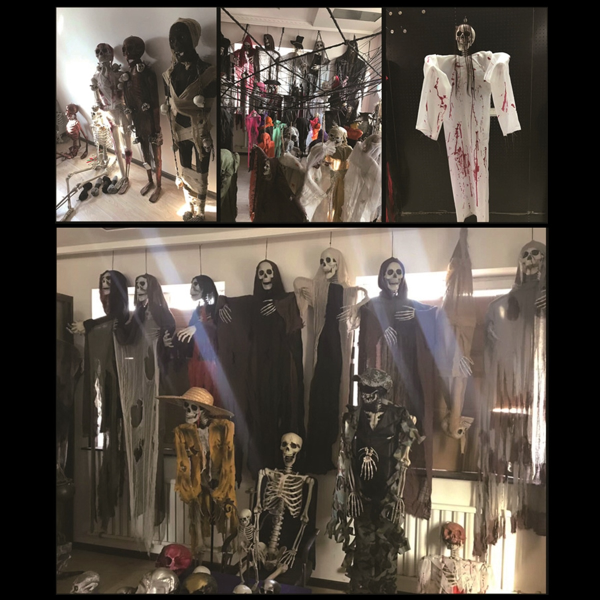 170cm Halloween Skeleton Poseable Decorations Life Size Party Decoration Gift PVC