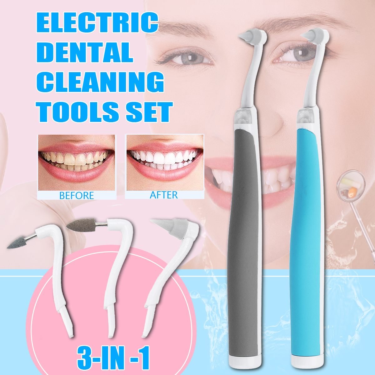 LED 3 In 1 Dental Kit Oral Care Tools Electric ToothPicks