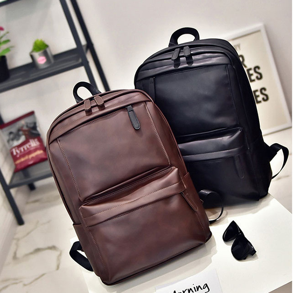 Men Women PU Leather Retro Leisure Travel Backpack Laptop Bag Student Mochila Travel Bags