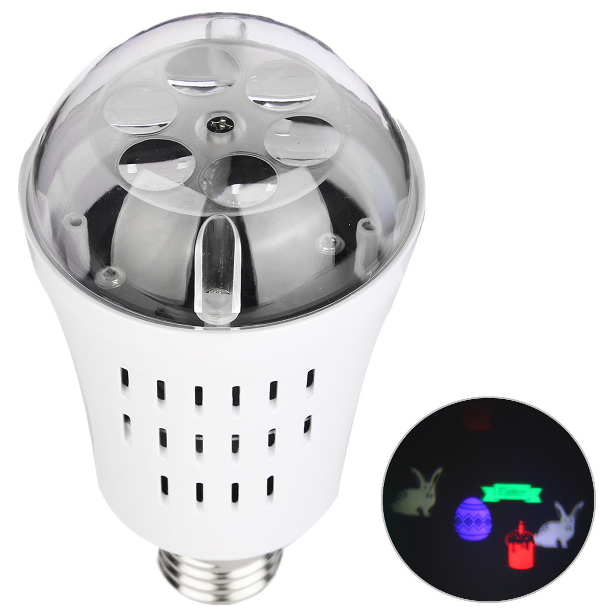 E27 AC85-265V 4W LED Easter Theme Landscape Laser Projector Light Lamp Bulb