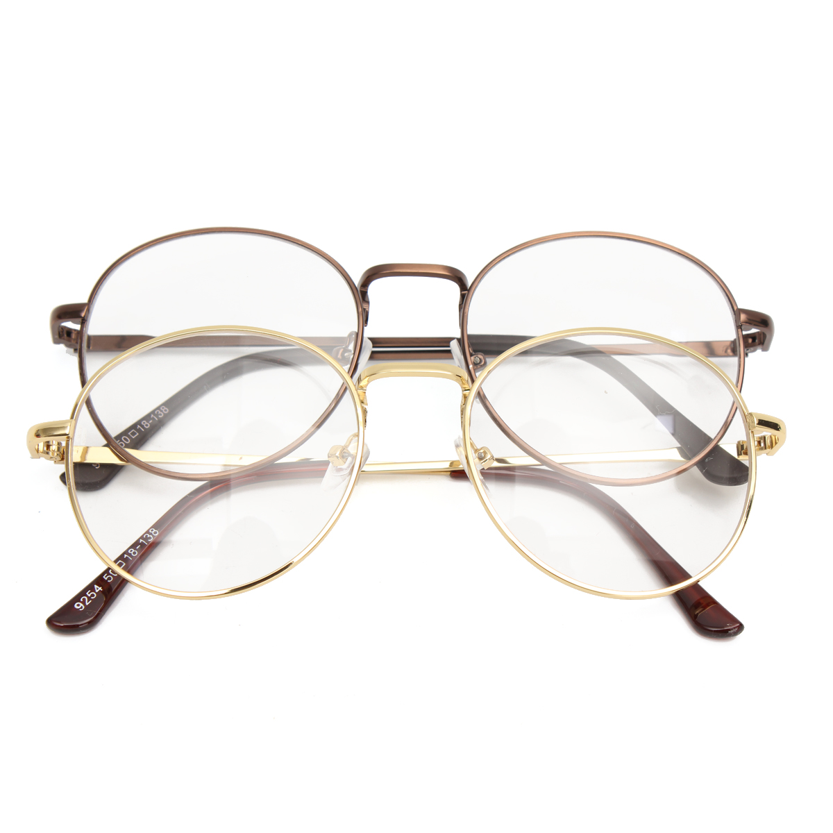 Unisex Retro Vintage Oval Eyeglasses Frame Spectacles Clear Plain Glasses
