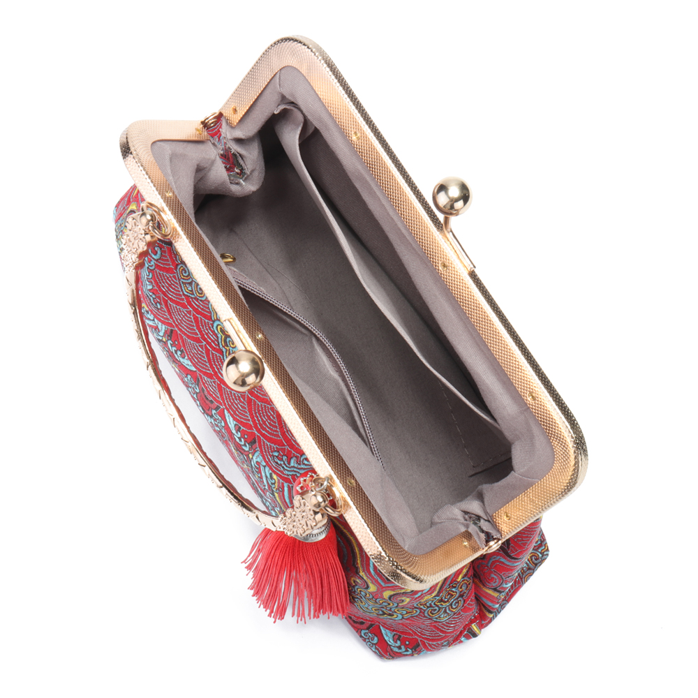 Brenice National Tassel Handbag Chinese Style Chain Bags