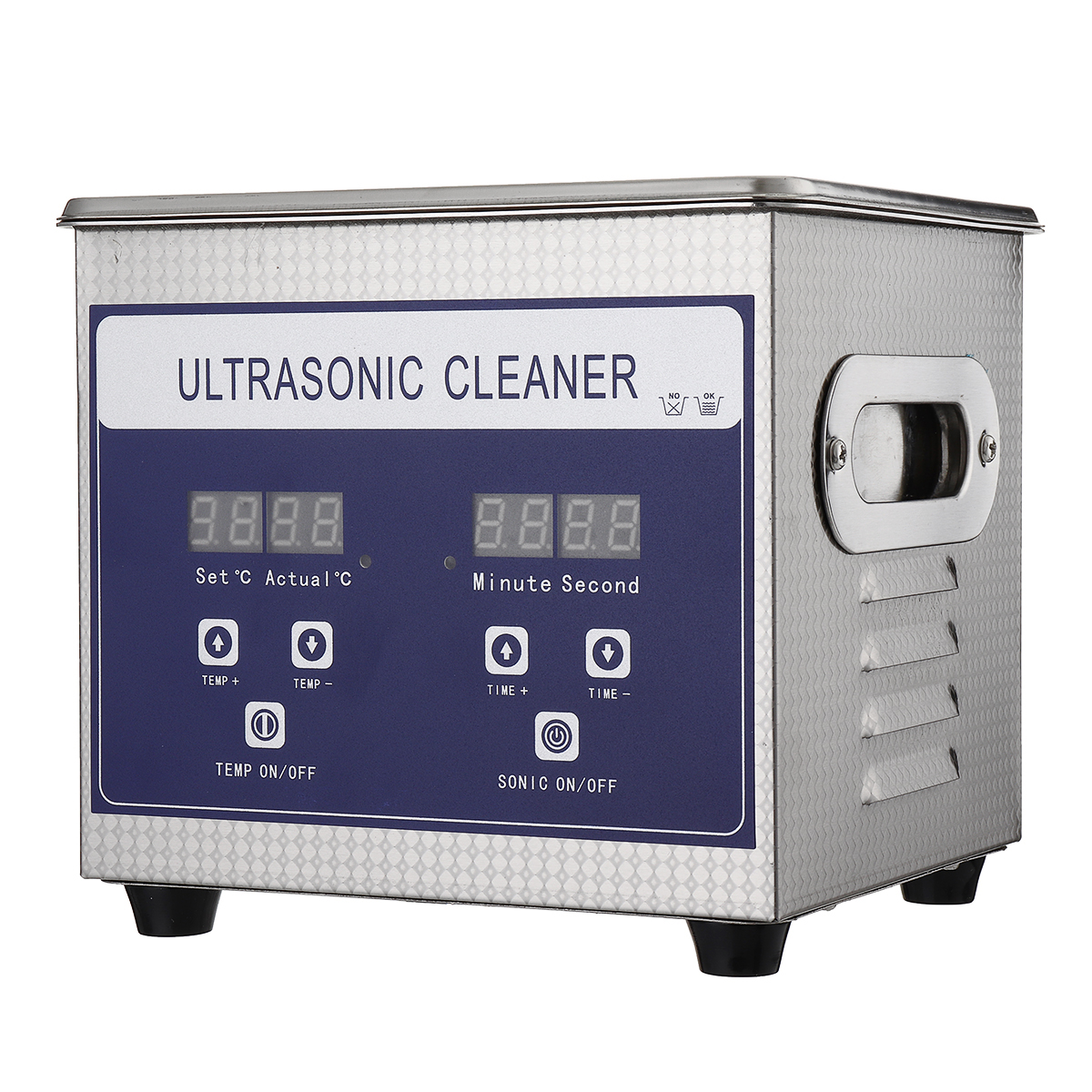 1.3L 60W Digital Ultrasonic Cleaner Ultra Sonic Bath Cleaning Temperature Adjustable Timer Tank