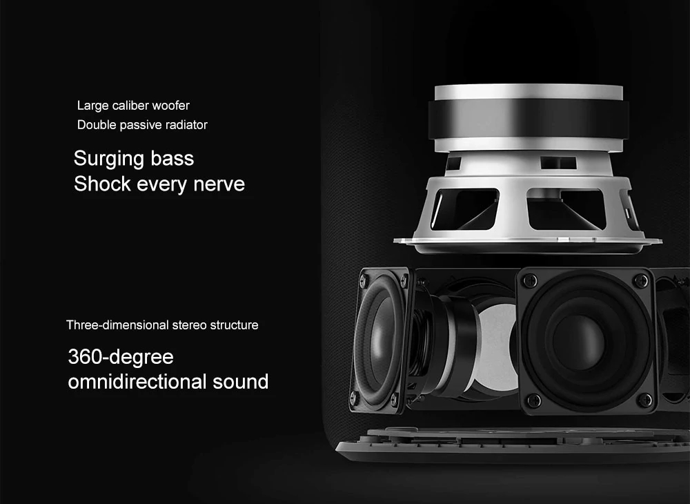 Xiaomi AI HD Wireless bluetooth Speaker 30W WiFi Heavy Bass 360 Degree Surround Stereo 6 Mic Subwoofer