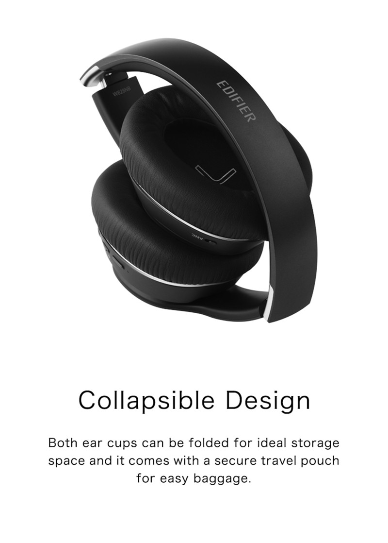 EDIFIER W828NB Folable Hybrid Active Noise-reduction Wireless bluetooth 5.0 Stereo Headphone With Mic