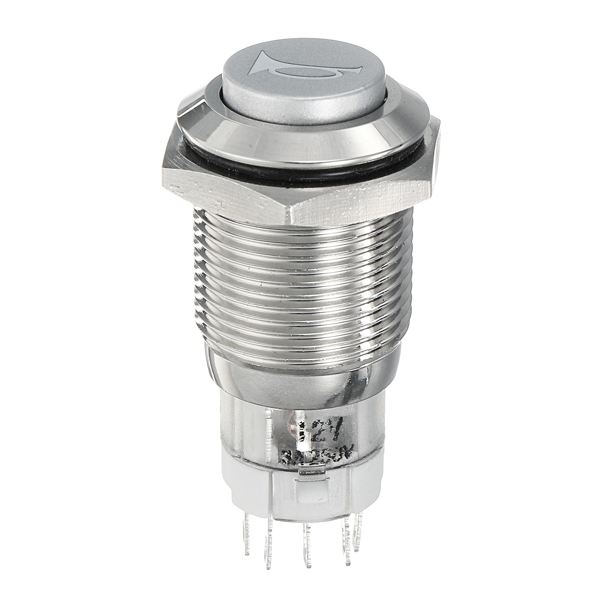12V 16mm LED Light Waterproof Momentary Horn Metal Push Button Switch For Motorcycle Car Boat