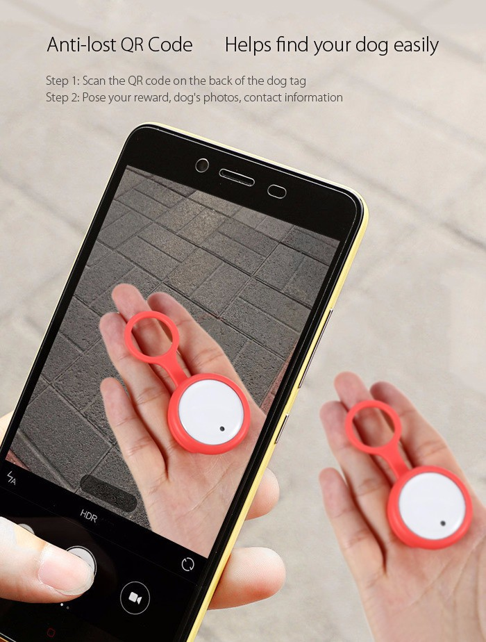 Original Xiaomi Smart Dog Button Tags Pet Life Recorder bluetooth Anti Lost Safety Light Pets Collar