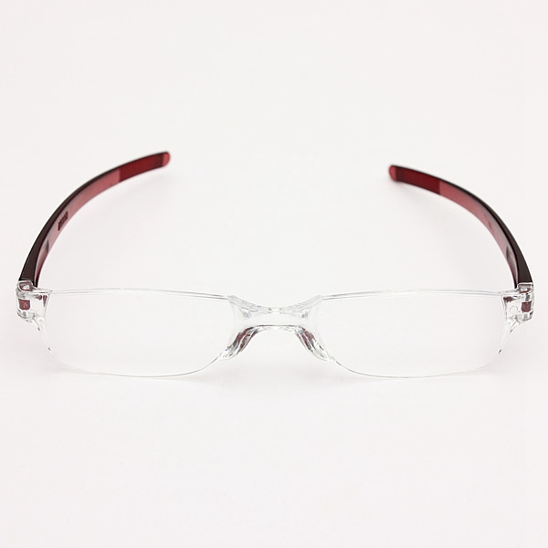 Light Weight Red Rimless Resin Magnifying Reading Glasses Fatigue Relieve Strength 1.0 1.5 2.0 2.5 3.0